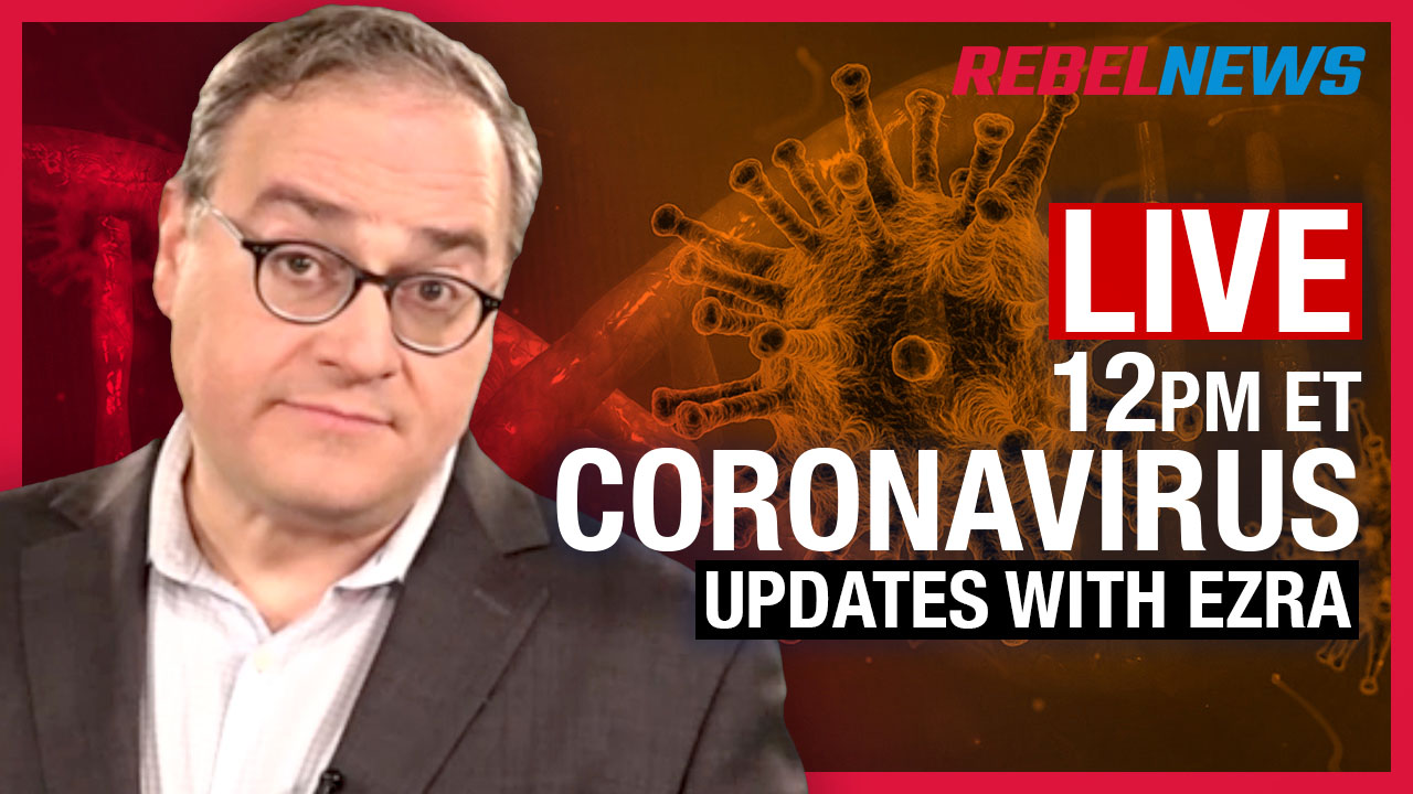 LIVE CHAT! March 25 Coronavirus update with Ezra Levant: Keeping news online during the pandemic