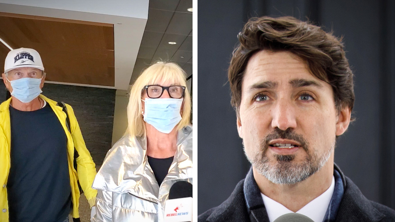 NO MASKS at Calgary airport! Trudeau's health minister lied about handing out free masks to travellers