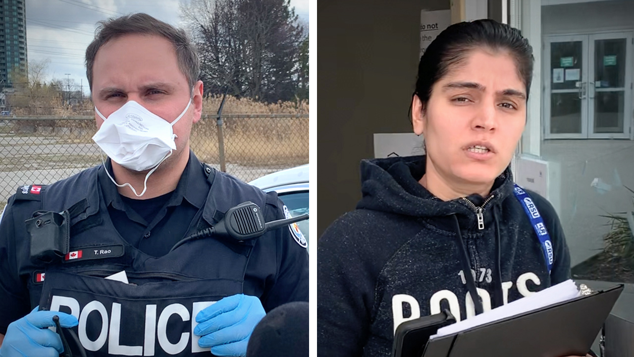"""COVID-19 outbreak at refugee centre, people """"taken away by ambulance"""" — staff call the cops on our reporter!"""
