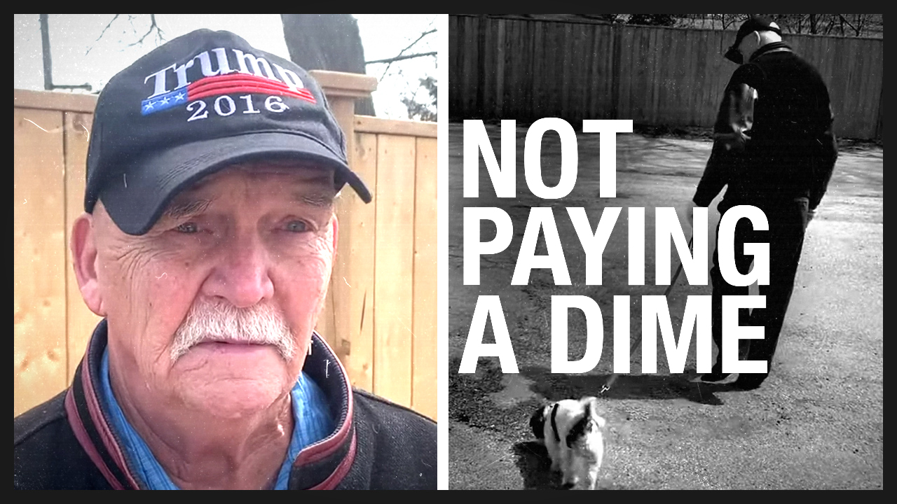 Fight the Fines case #4 — Retired carpenter FINED for taking the dog out