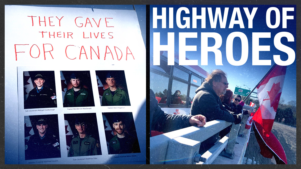 Highway of Heroes: Canadians gather to pay last respects