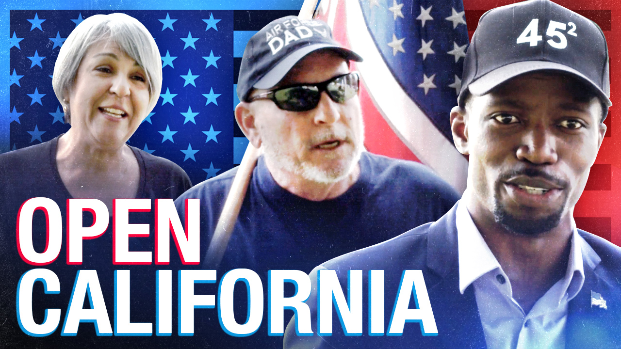Reopen California! Patriots tell their shutdown stories at Los Angeles protest