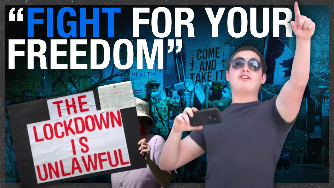 """Control and tyranny:"" Toronto's anti-lockdown protesters warn against losing your rights"