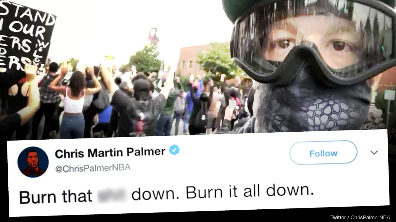 Sports writer Chris Martin Palmer praised riots — until they got close to his home