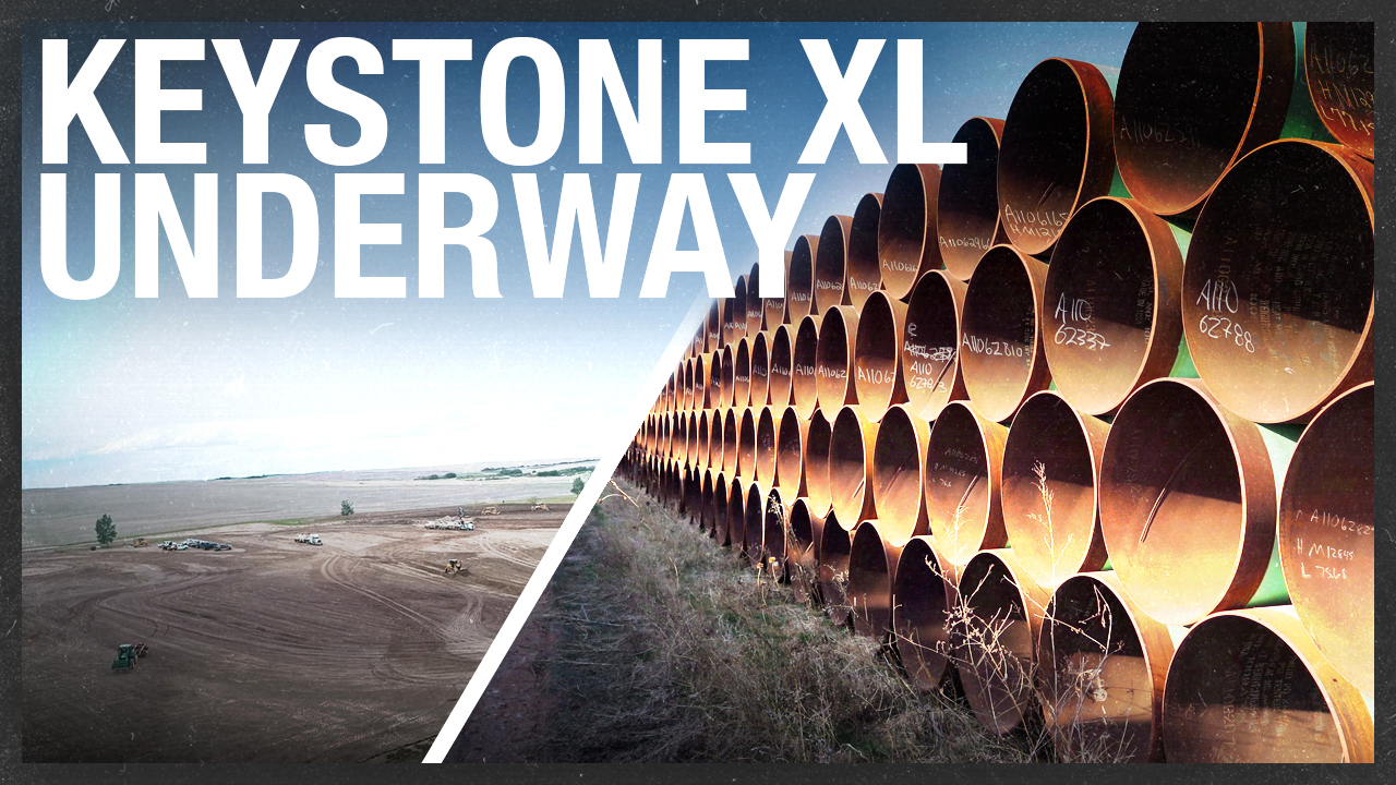 Keystone XL pipeline: Breaking ground in Alberta! [DRONE FOOTAGE OF CONSTRUCTION]