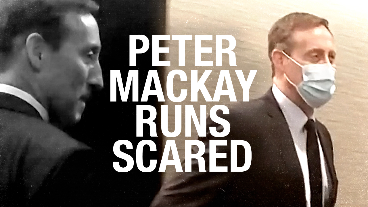 """It's called winning!"" Peter MacKay tells Rebel News reporter — after hiding in bathroom"