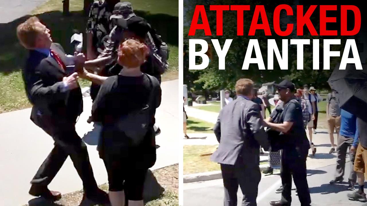David Menzies ASSAULTED at protest targeting Sir. John A. Macdonald statue