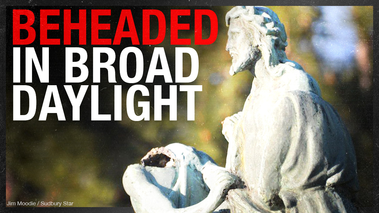 Not a hate crime? Bronze Stations of the Cross statues beheaded in broad daylight in Ontario