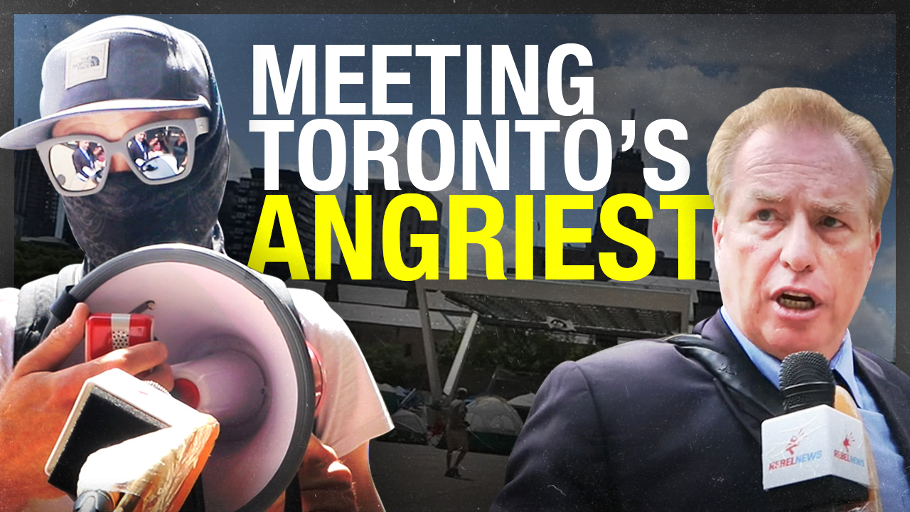 """Marxists and communists!"" Toronto's tent city using Antifa tactics to silence (or deafen!) media"