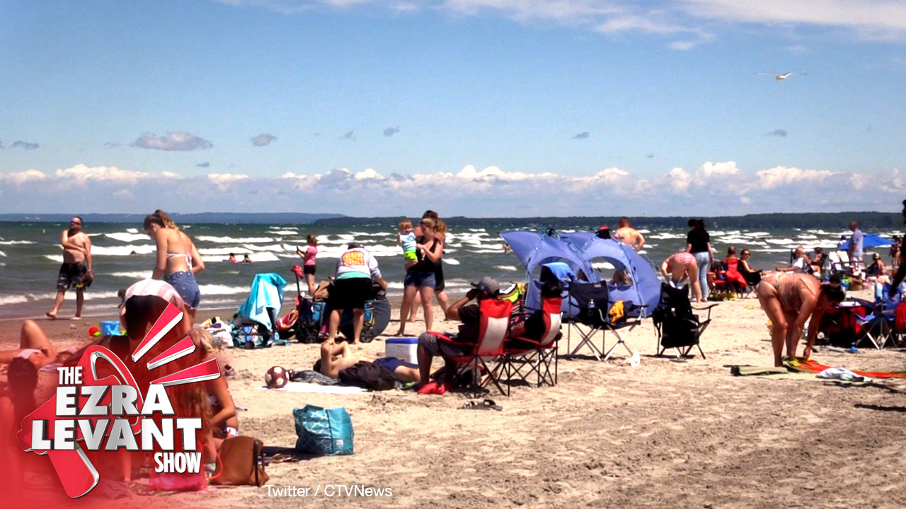 "Busy beach in Canada labeled ""human behaviour at its worst"""