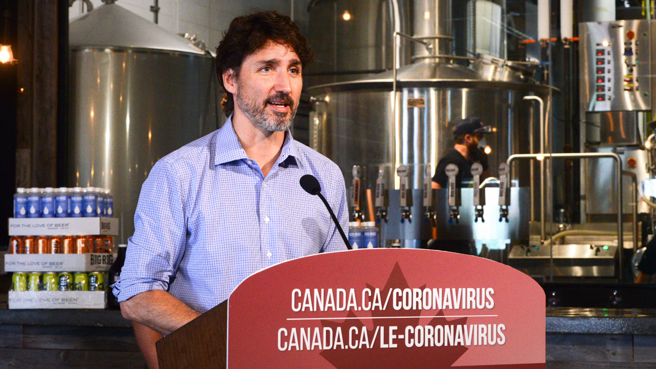 Brewery received hand sanitizer licence on same day Trudeau showed up to praise their hand sanitizer