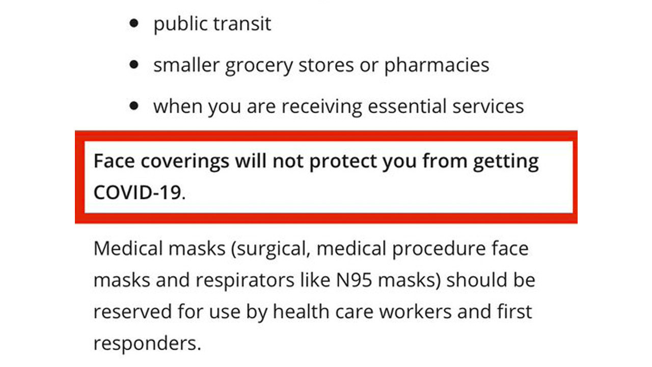 Ontario government says masks don't work — but cities say: Wear one or else