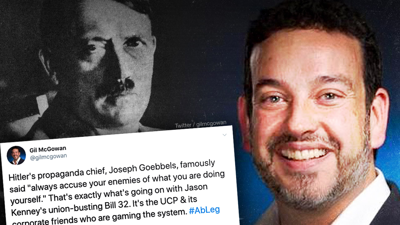 Alberta union boss compares campaign finance reform to Nazi Germany