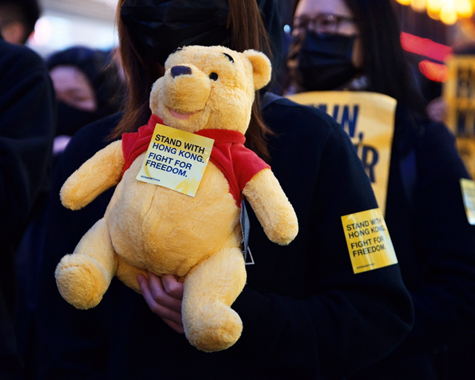 The iconic Canadian bear has become a symbol of resistance to the authoritative regime.