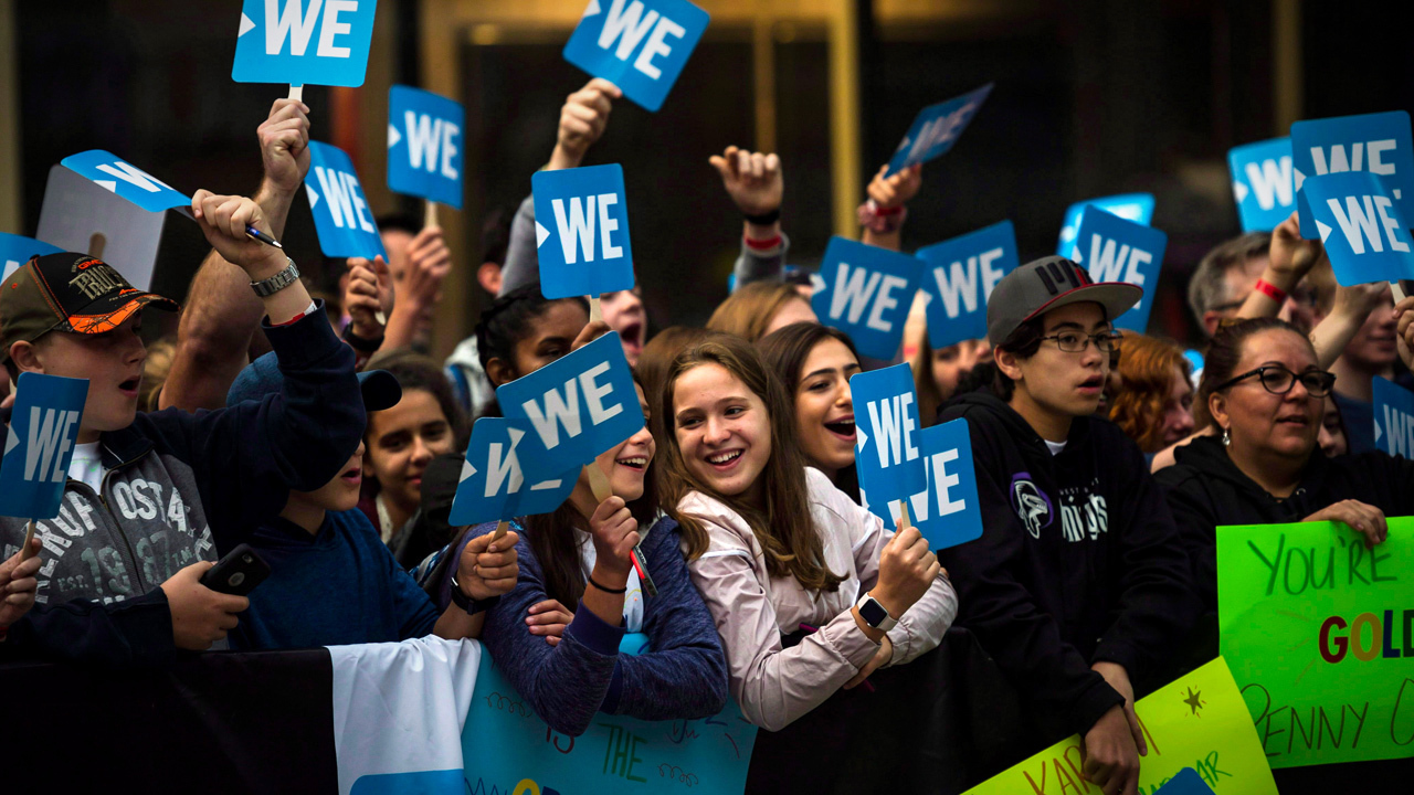"BREAKING: WE Day cancelling activities for ""foreseeable future"""
