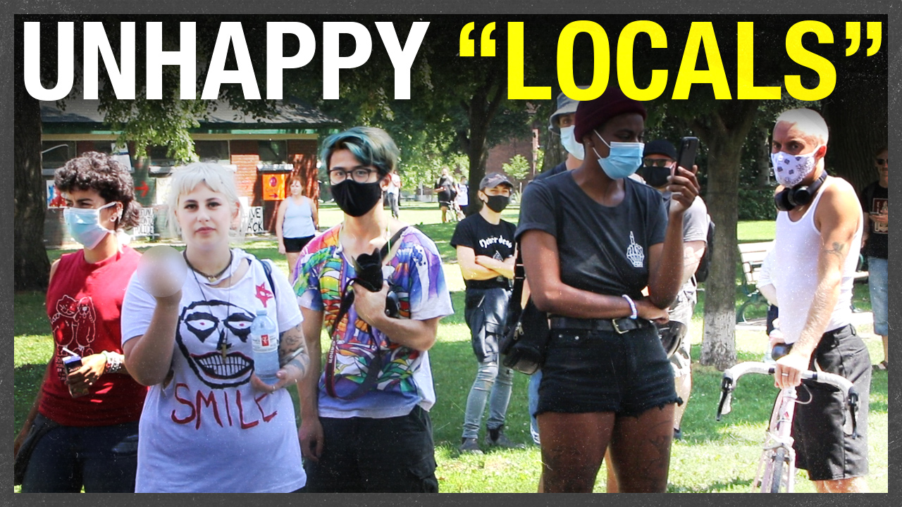 Antifa has taken over the public restrooms at Toronto's satellite tent city