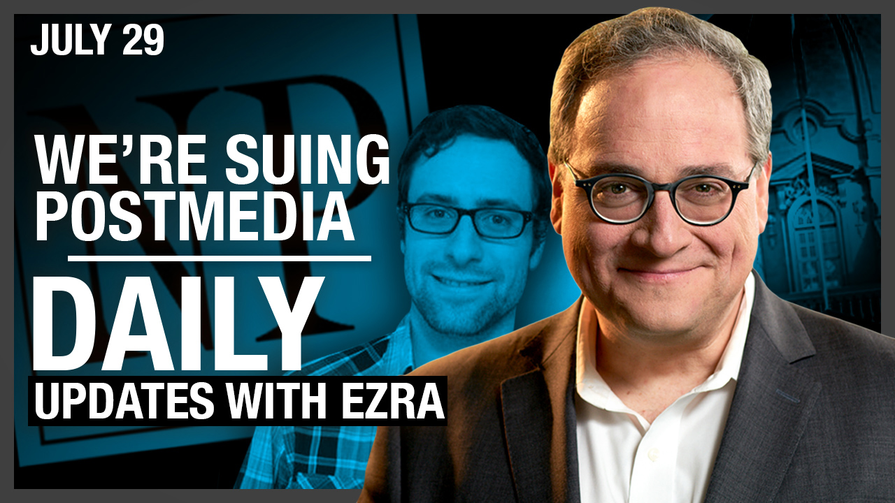 LIVESTREAM: We're Suing Postmedia Under Competition Act