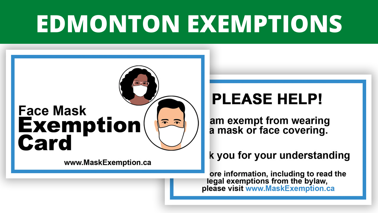 Edmonton Mask Exemption