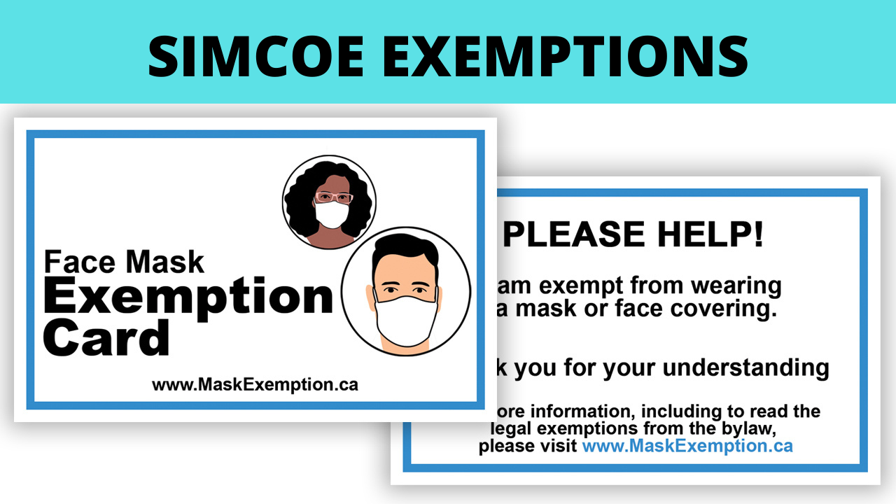 Simcoe Mask Exemption