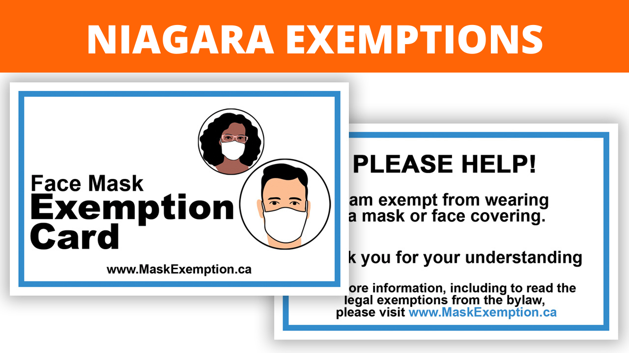 Niagara Mask Exemption