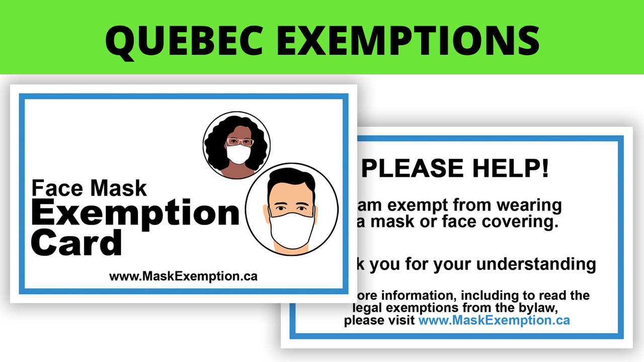 Quebec Mask Exemption