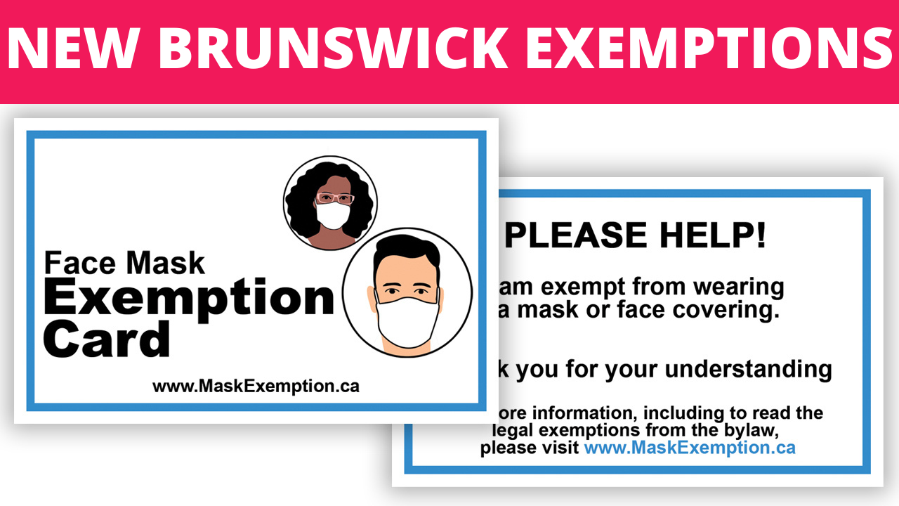 New Brunswick Mask Exemption