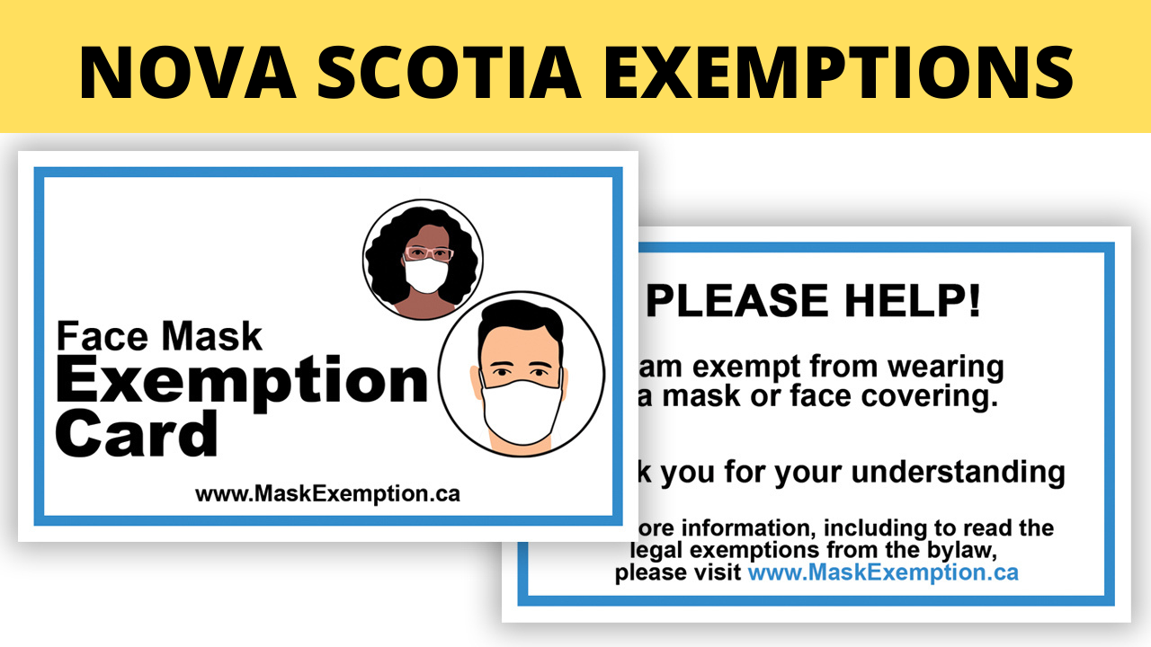 Nova Scotia Mask Exemption