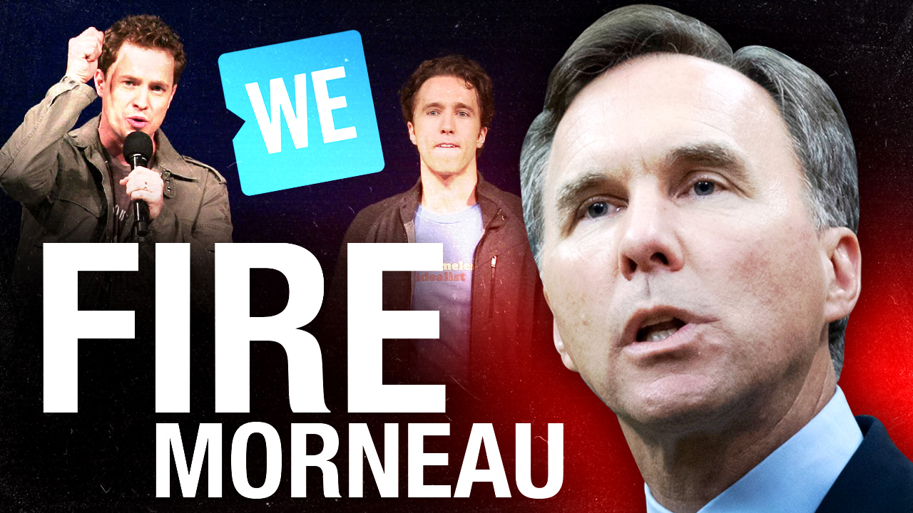 Fire Bill Morneau! Trudeau's finance minister part of #WEcharity Scandal — help us spread the word!