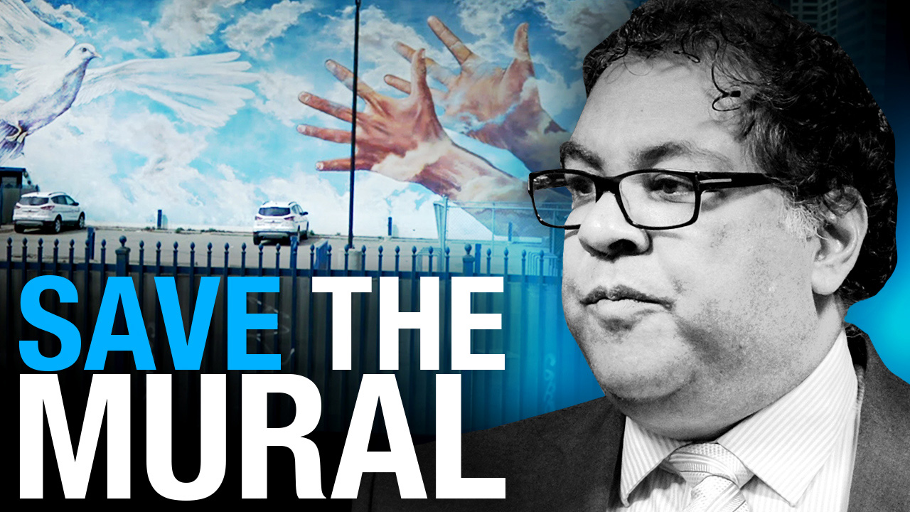 Calgary Mayor Nenshi pays anti-white radicals to paint over beloved city mural