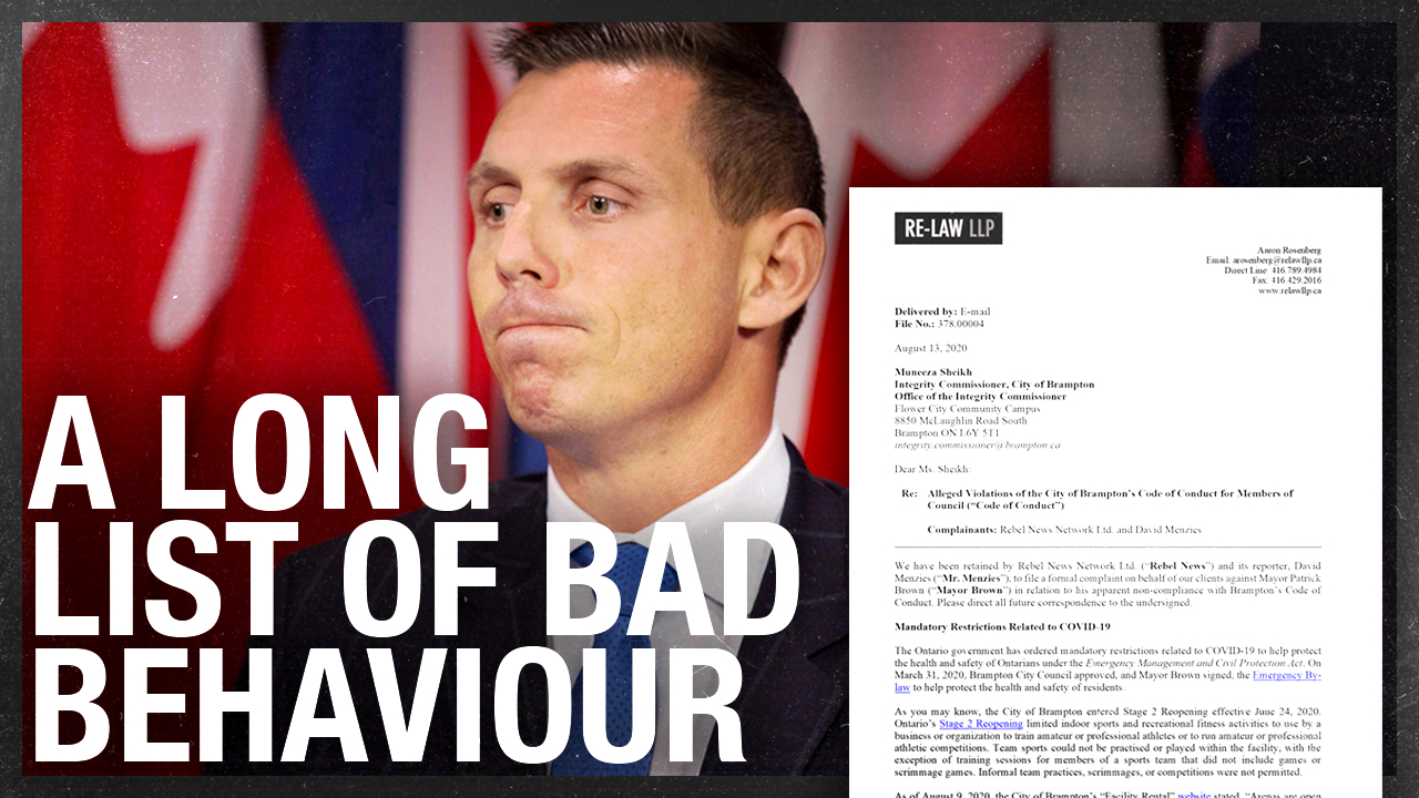 Patrick Brown UPDATE — We launched a legal complaint with Brampton's Integrity Commissioner