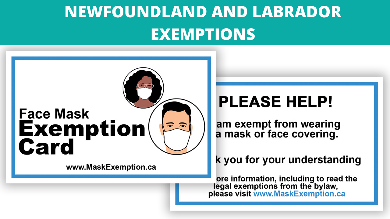 Mask Exemption Newfoundland