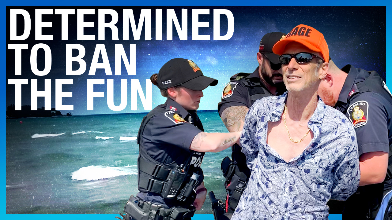 HANDCUFFED: Police prowl Cobourg Beach for COVID-19 violations