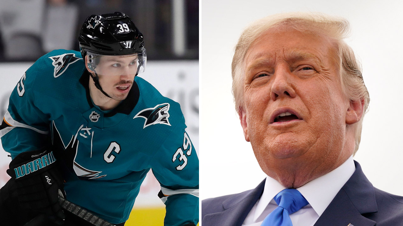 "NHL captain Logan Couture says he was ""sucker punched"" in Toronto for saying he'd vote Republican"