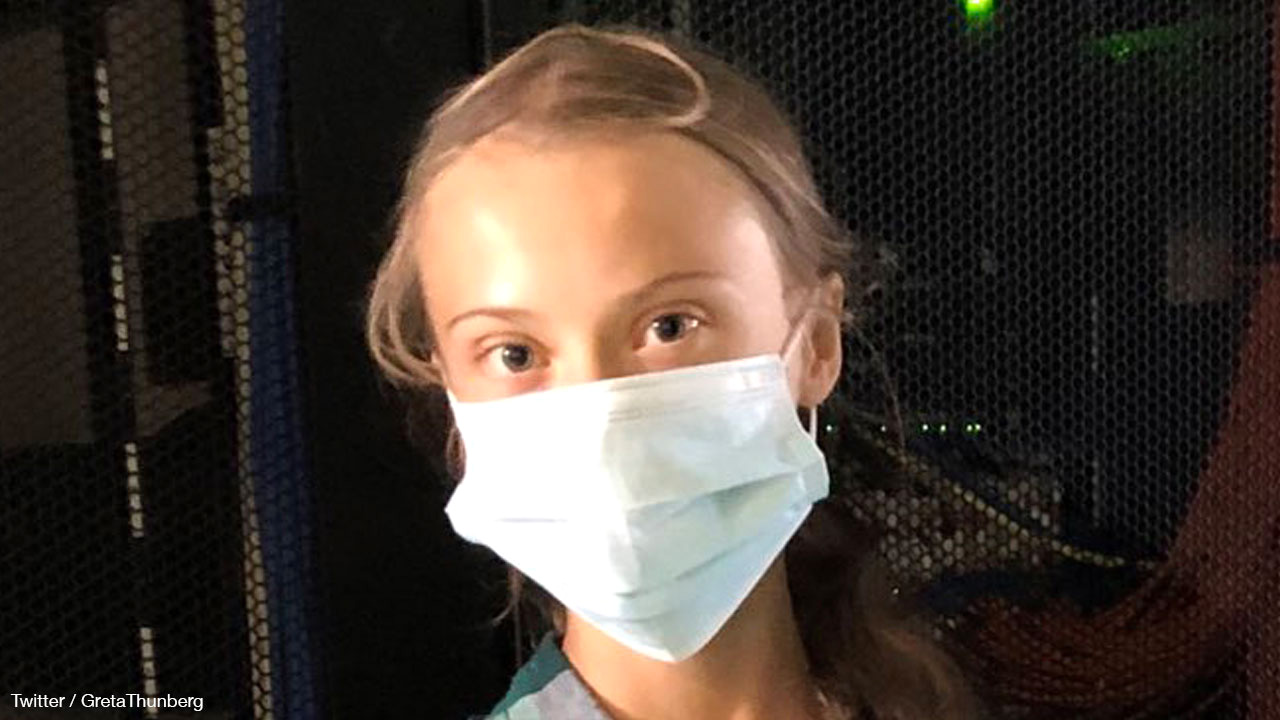 Greta Thunberg sports disposable, oil-based mask on Instagram