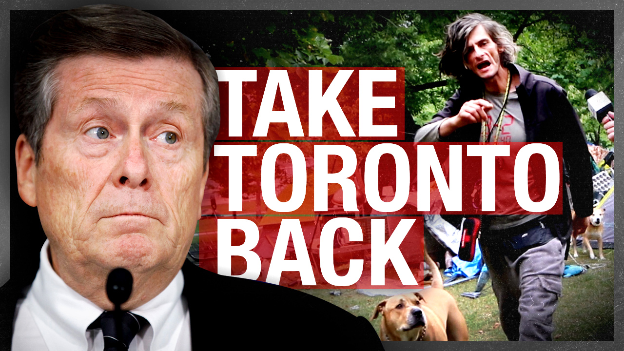 "Take Toronto Back: Rebel News reporter attacked in public park ""encampment;"" mayor ignores city's decline"