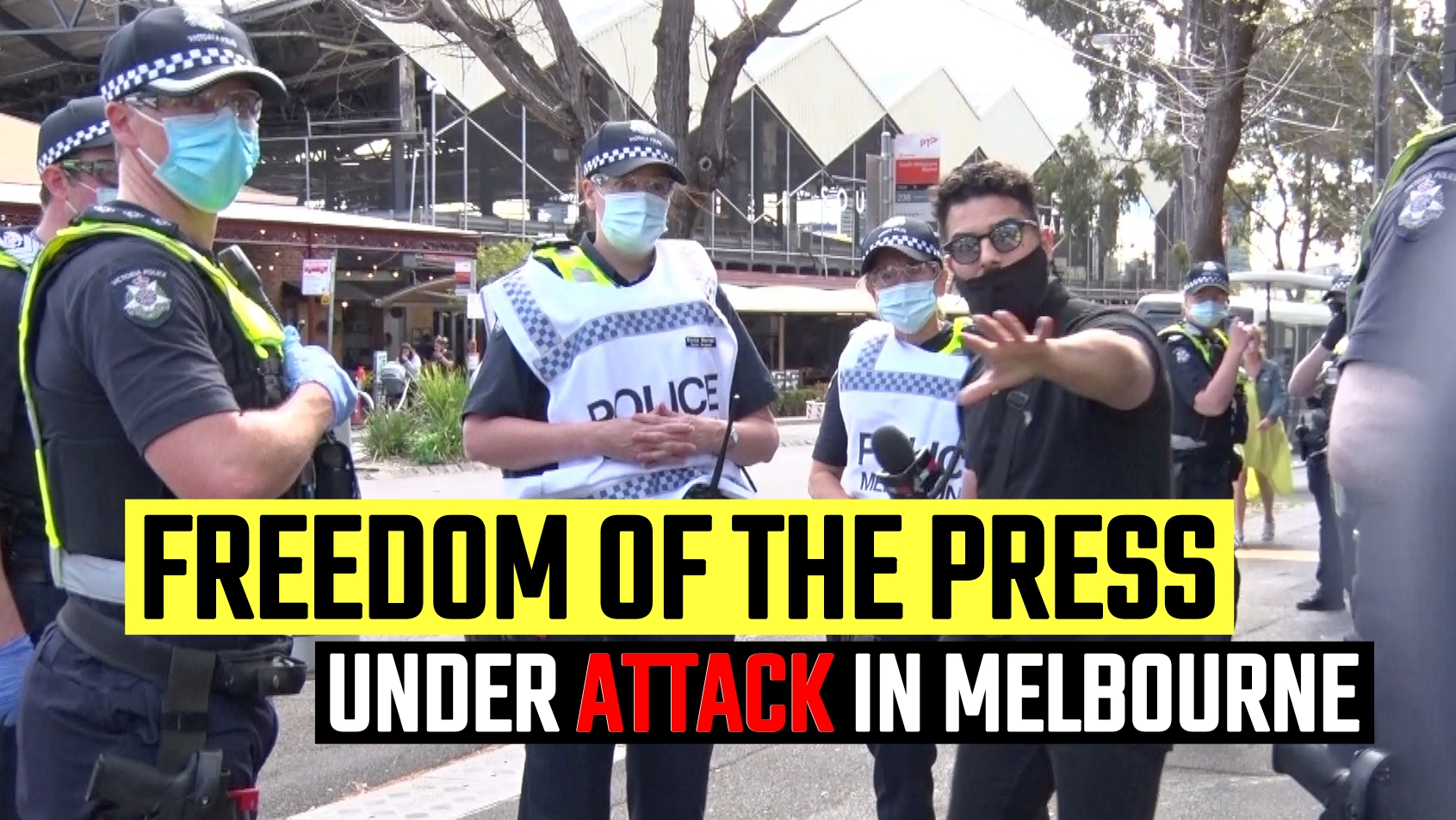 Police in Melbourne FAIL to stop Avi Yemini reporting at the latest protest
