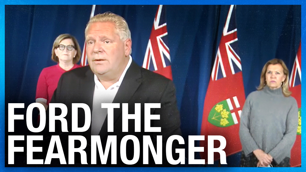 Premier Doug Ford dodges David Menzies after announcing new social gathering limits
