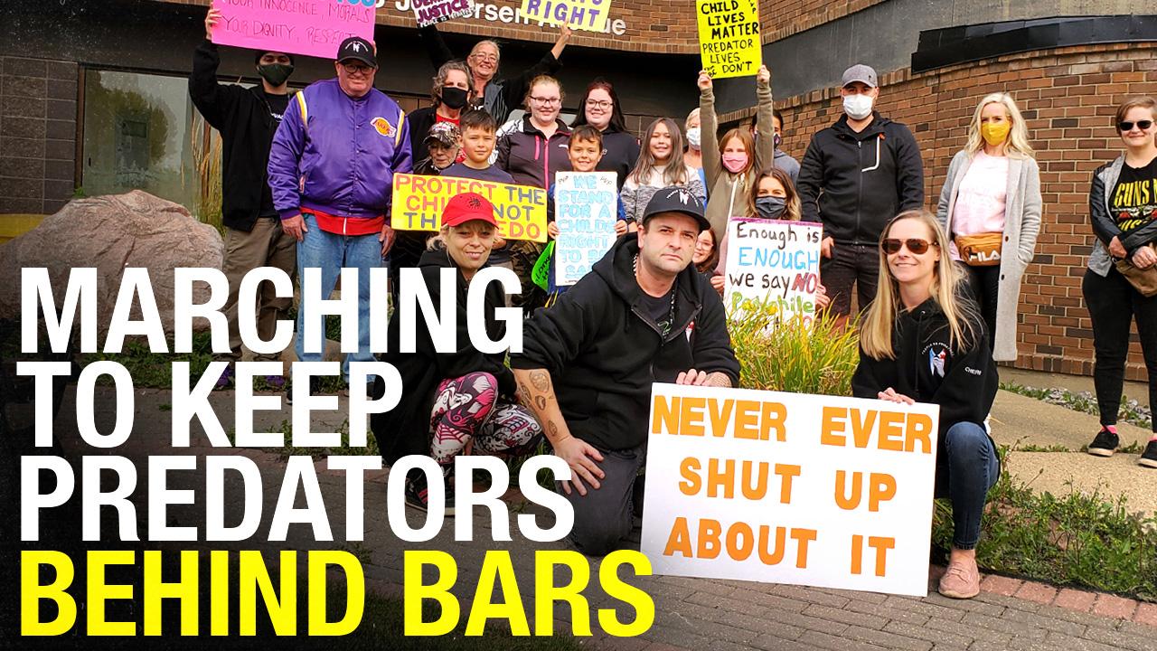 Maximum time for child crime: People Vs Predators rally to revoke bail for offender