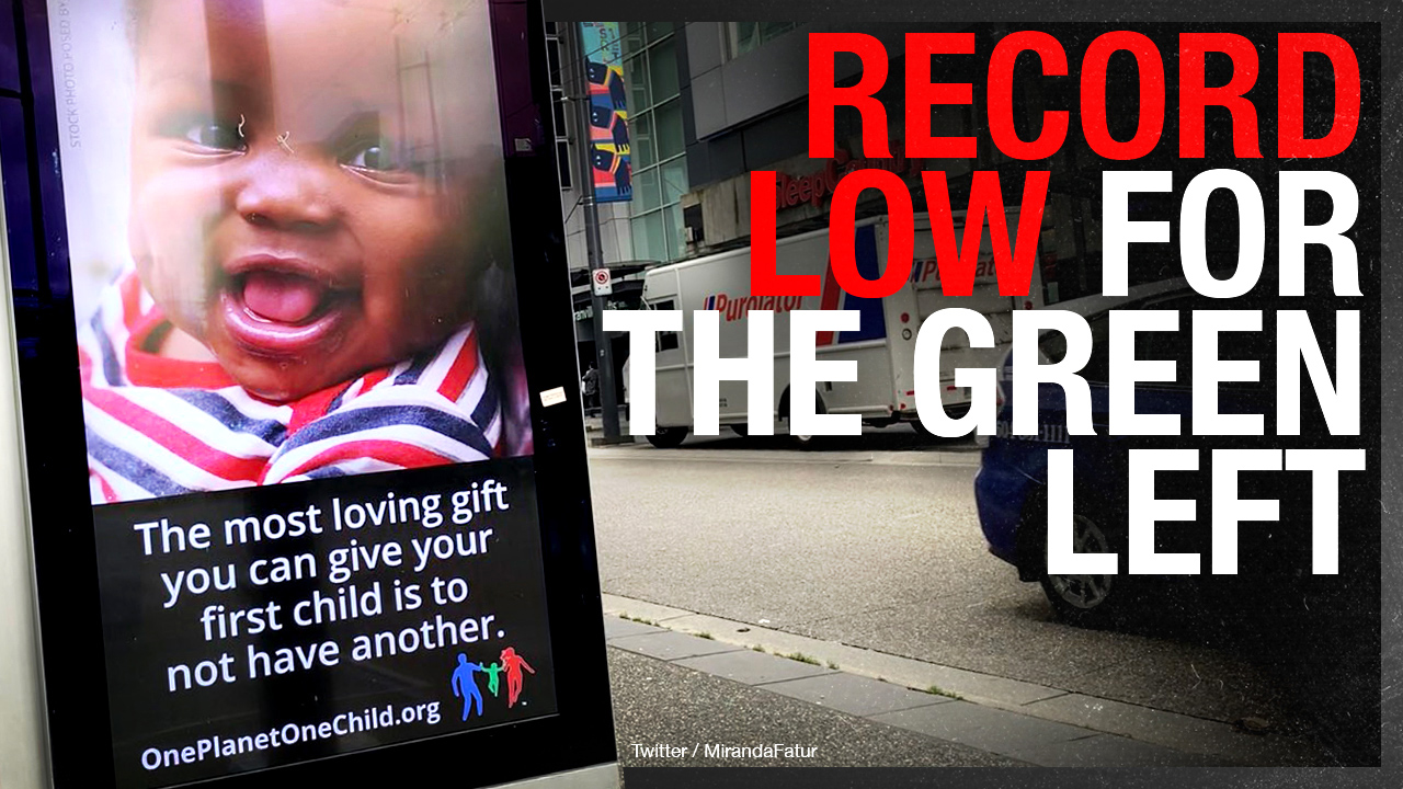 'One Child' billboard in Vancouver paid for by foreign-funded environmentalists