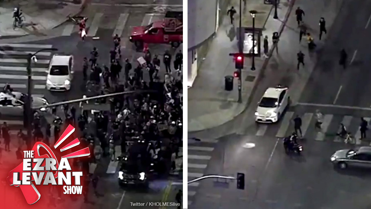 Never get out of your Prius when Black Lives Matter swarms you