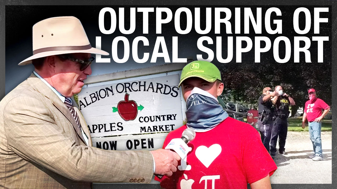 UPDATE: Business booms at apple orchard threatened with COVID-19 fines