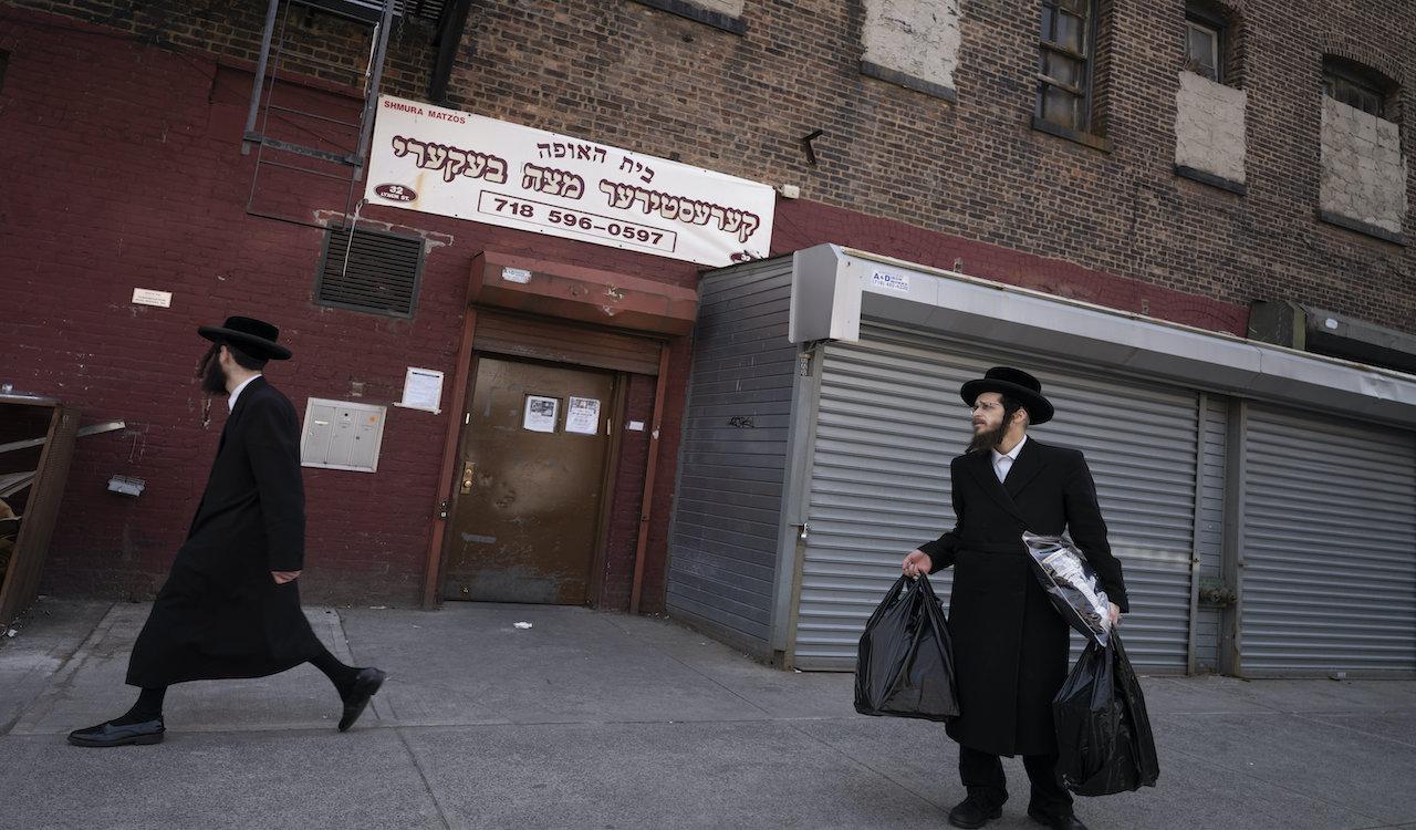 New York:  Orthodox Jews protest COVID-19 lockdown