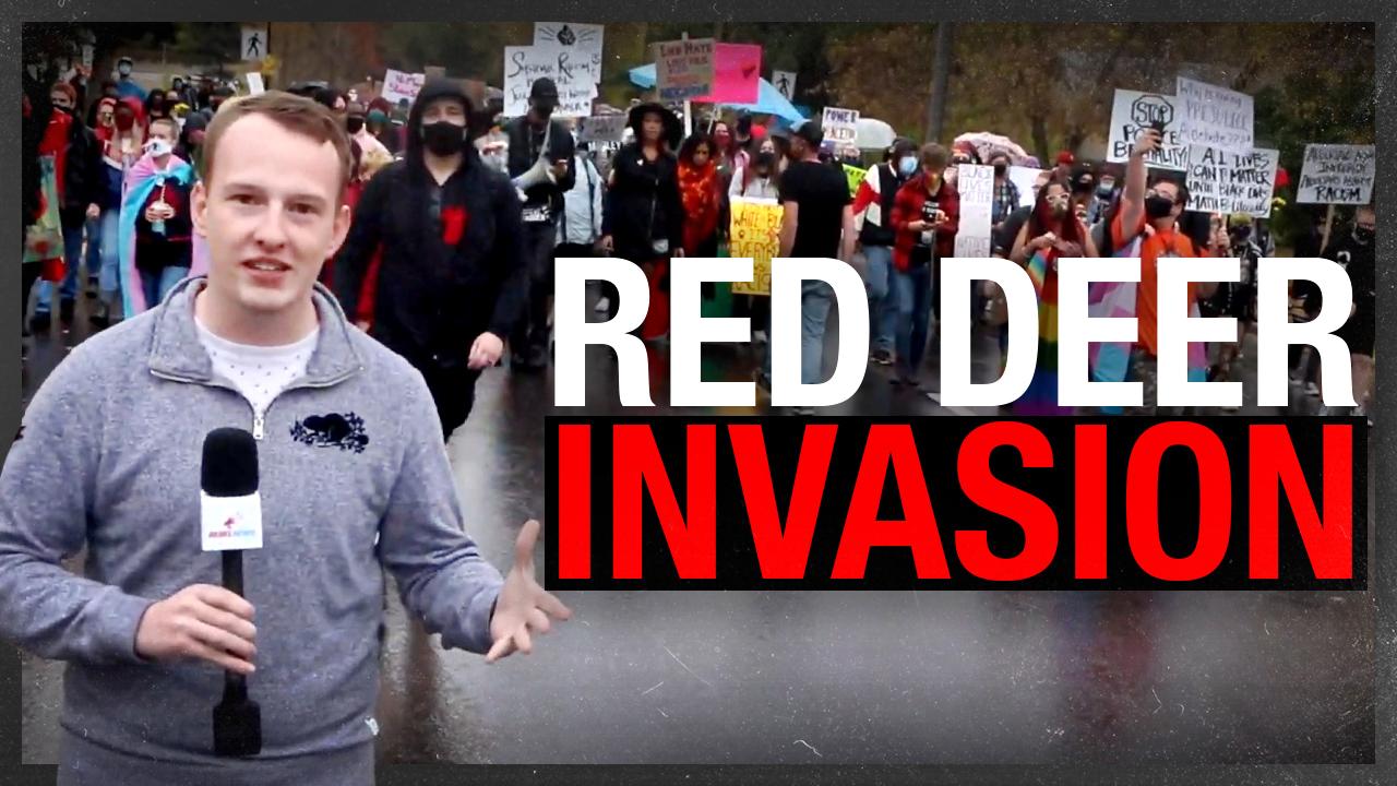 "INVASION: Antifa occupies Red Deer, Alberta for ""anti-racism"" rally"