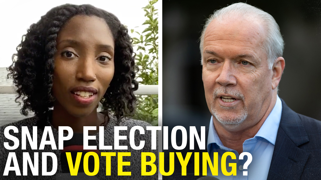 "BC NDP promising ""FREE"" money to voters ahead of snap election — and this isn't buying votes?"