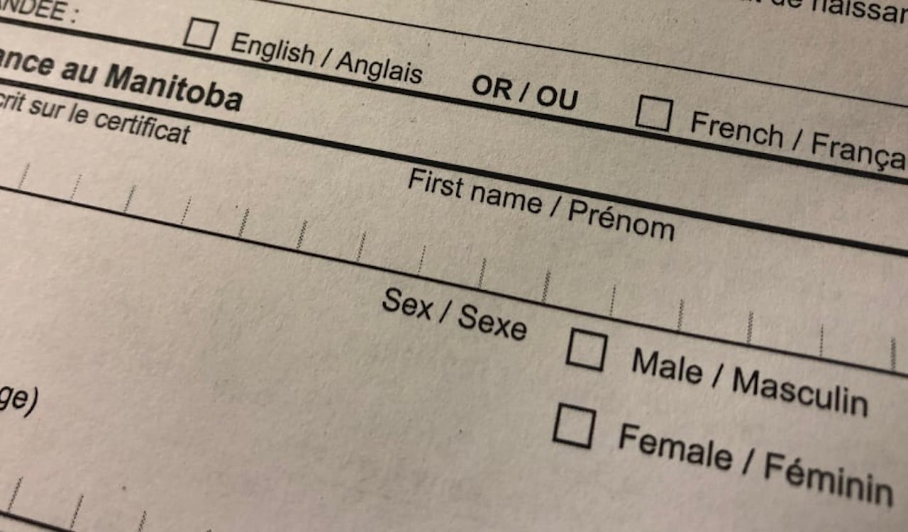 Manitoba approves non-binary, genderless status on ID cards