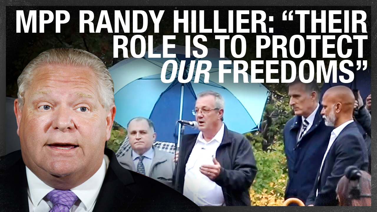MPP Randy Hillier DARES Doug Ford to send police to arrest him for organizing legislature rally