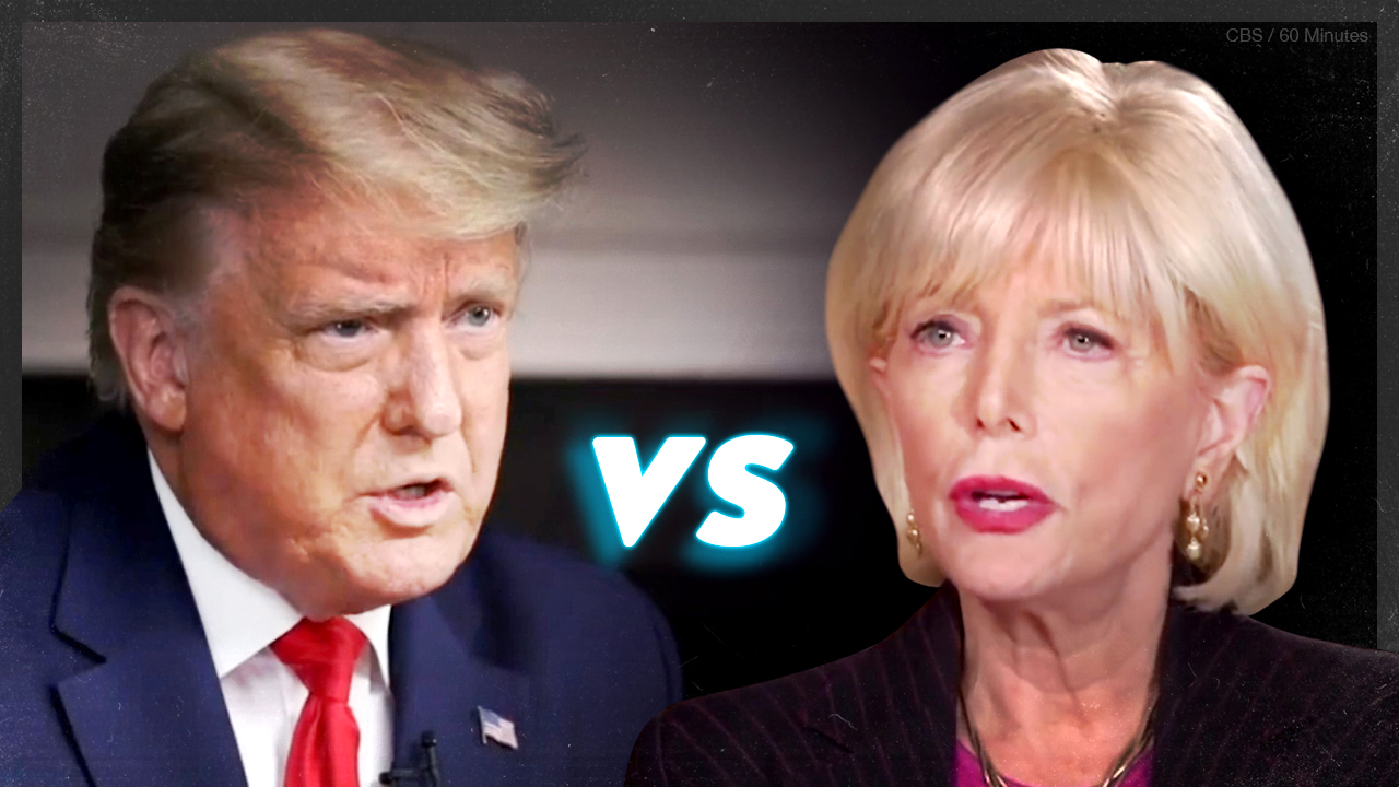 SUPERCUT: Every time Trump was interrupted during '60 Minutes' interview with Lesley Stahl