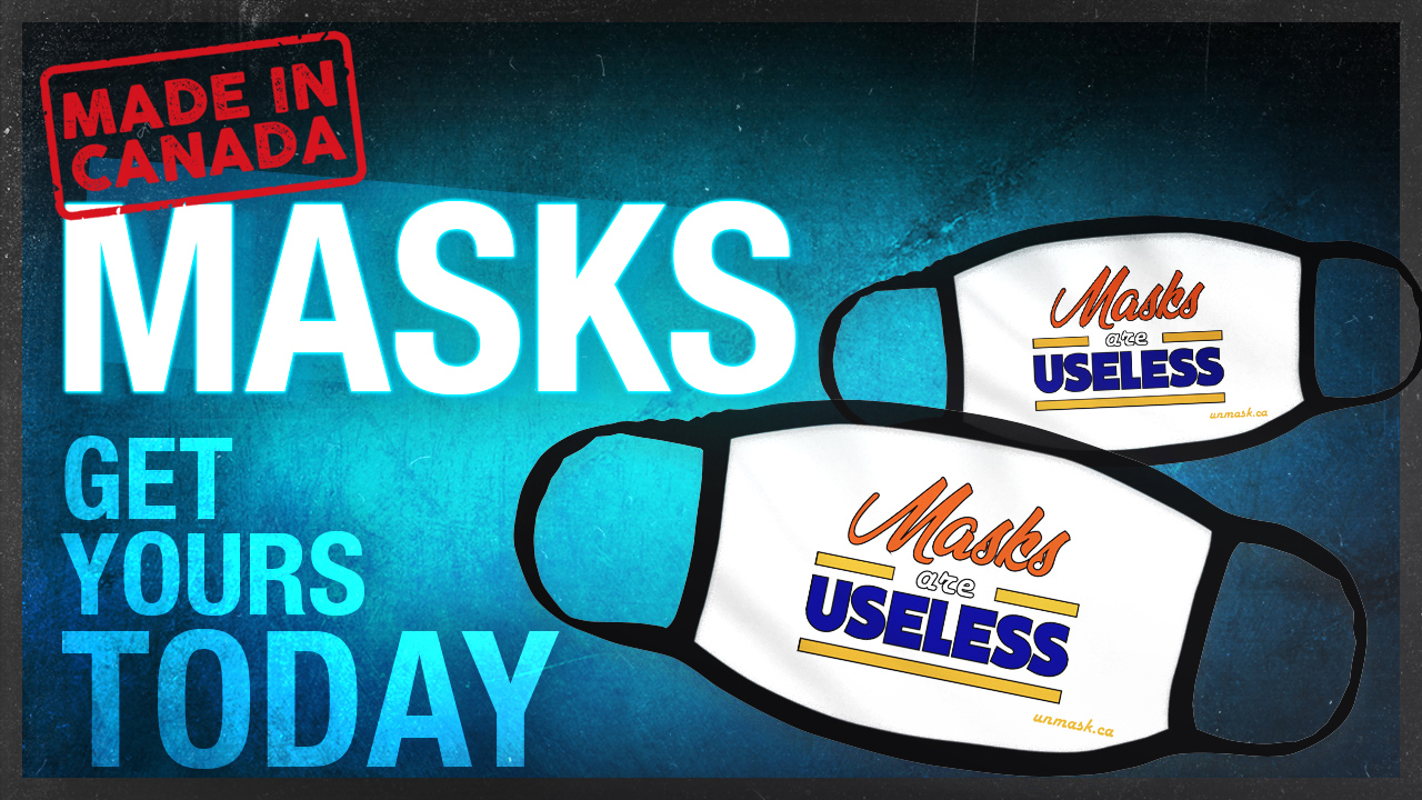 "Stuck having to wear a face cover? Make your voice heard with our ""Masks Are Useless"" mask"