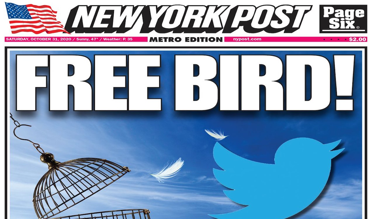 BREAKING: Twitter ban lifted on New York Post account