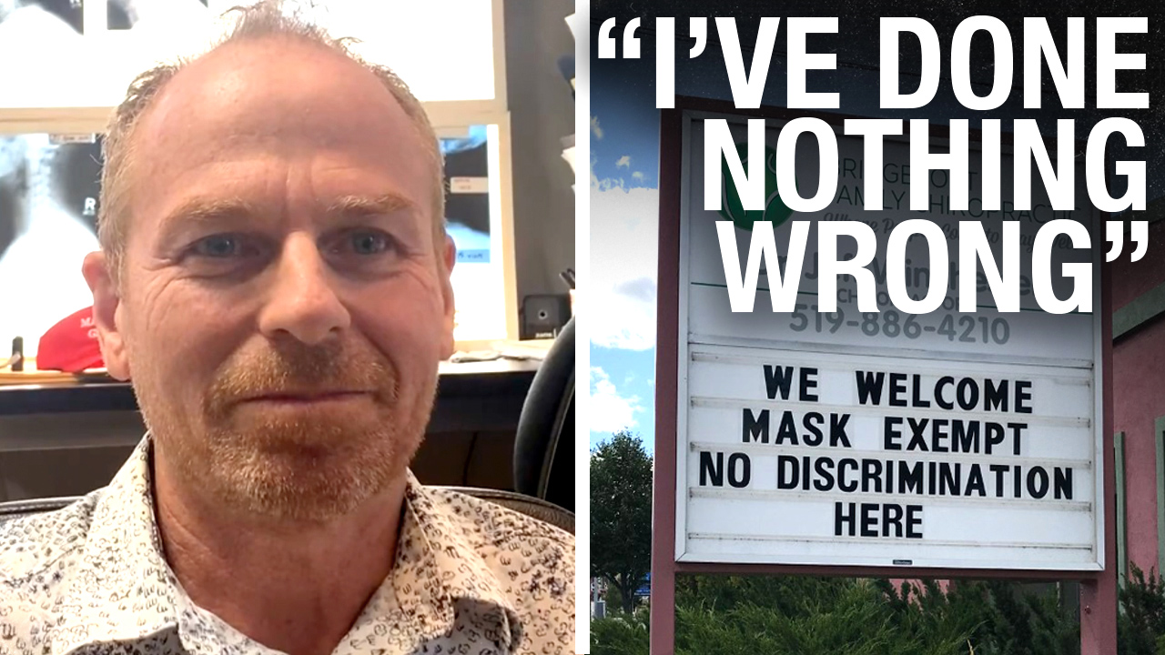 Chiropractor facing formal COMPLAINT for sign welcoming mask exempt patients